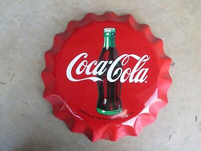 Coke Coca Cola tin Bottle Cap Sign Tin Sign 11""