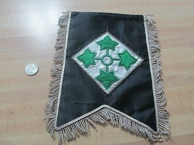 Us Army 4Th Infantry Divison Bullion Banner  9 By 7 & 1/2 Last One N 83
