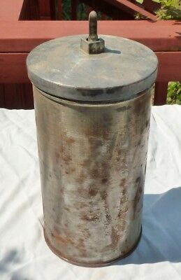 Vtg White Mountain 6 Qt Hand Crank Ice Cream Freezer Canister, Dasher & Lid