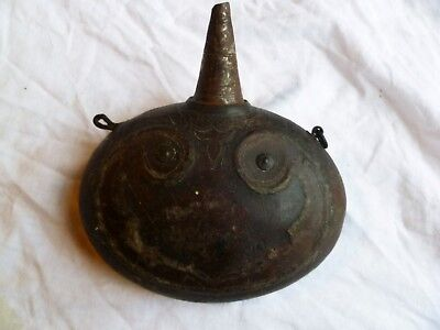 ANTIQUE OTTOMAN TURKISH BALKANS ISLAMIC BLACK POWDER BOTTLE FLASK no MUSKET GUN