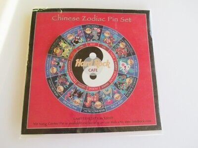 Hard Rock Cafe LAS VEGAS CHINESE ZODIAC PIN CARD WITH YEAR OF THE DOG PIN NEW LT