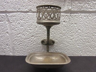 Vintage Bathroom Cup, Soap Holder WALL MOUNT
