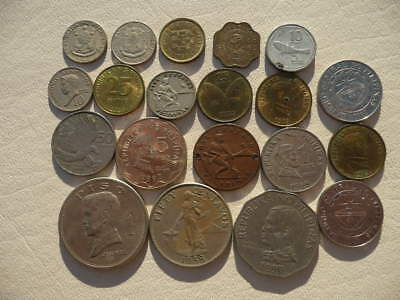 Lot of 20 Philippines Coins - with World War Two