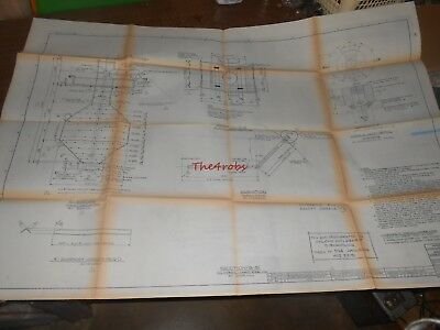 Vintage Amoco Oil Whiting Indiana Blueprint Drawing New Dome Purge Steam Dist.