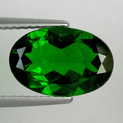 3.30 cts  EXCELLENT RARE RUSSIAN GREEN NATURAL CHROME DIOPSIDE OVAL  _ 586