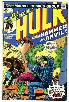 Incredible Hulk #182 (1974) G Wolverine Marvel Value Stamp out