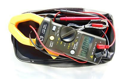 AC DC True RMS Clamp-on Ammeter Multimeter DMM+Capacitor Tester+K Thermocouple
