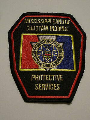 Mississippi Band of Choctaw Indians Protective Services Patch Tribal Tribe Polic