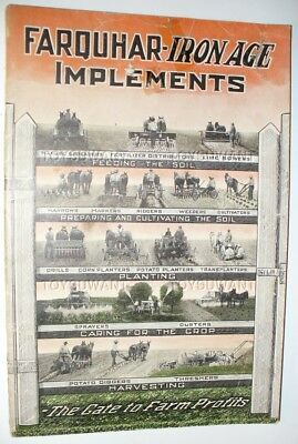 Farquhar Iron Age Implements Catalog Harvesting Planting Threshing Machinery Old