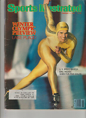 SPORTS ILLUSTRATED Feb 11,1980 ERIC HEIDEN LAKE PLACID WINTER OLYMPICS Cover