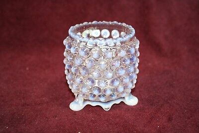 Awesome EAPG Toothpick Holder -White Opalescent Overall Hobnail - Beatty ca 1889