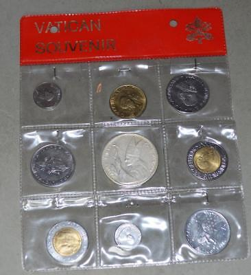 Vatican Souvenir Set - 8 Coins and 1 Medal
