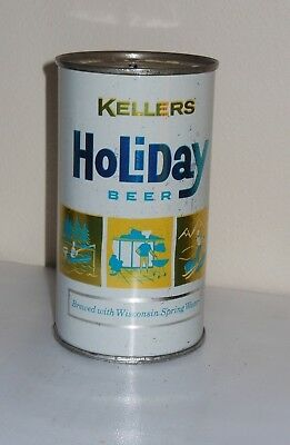 Kellers Holiday Beer Can - Holiday Brewing - Potosi, WI - FLAT TOP CAN