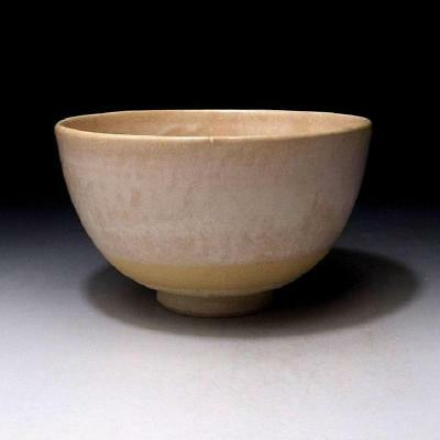 GG9: Vintage Japanese Pottery Tea Bowl of Hagi ware