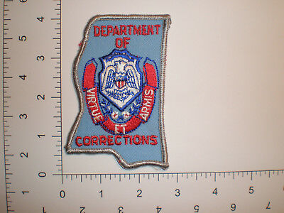 MS Mississippi Corrections Prison DOC police patch