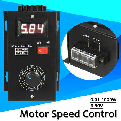 1000W 15A 12V DC PWM Motor Speed Control PLC 15A ESC Governor Volt Display