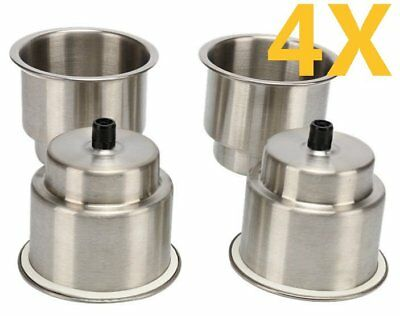 4 Pieces Stainless Steel Marine Boat Cup Drink Holder Car RV Practical & Hot AUS