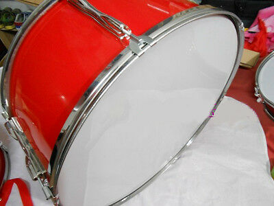 New Red '24' Band Performance Musical Instruments Grosse Trommel Snare Drum.