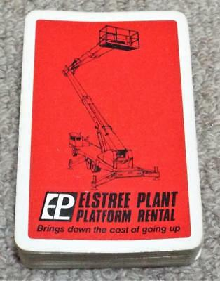 Elstree Plant Platform Rental - Vintage Pack of Advertising Playing Cards - Red