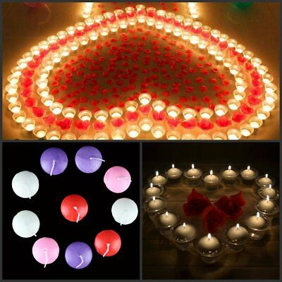Romantic Home Decor Lovely Water Floating Candle Disc Floater Candles Unscented