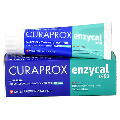 Enzycal Remineralising Toothpaste 75ml Curaprox Curadent SLS Free