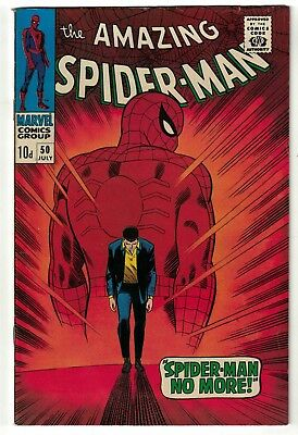 Marvel Comics Spiderman 50 1st kingpin appearance  hot book  VGF FN- 5.5 amazing