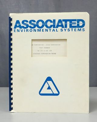 Associated Environmental Systems Test Chamber BD 100 - BD 108 Instruction Manual