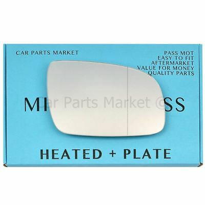 Droit Chauffeur Grand Angle Côté Wing Mirror Glass for Volkswagen Lupo 00-05