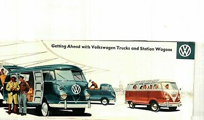 1959 VOLKSWAGEN TRUCK and STATION WAGON COLOR SALES CATALOG