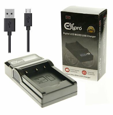 Ex-Pro Nikon MH-24 LCD USB Charger for Battery EN-EL14 D3100, D3200, D3300