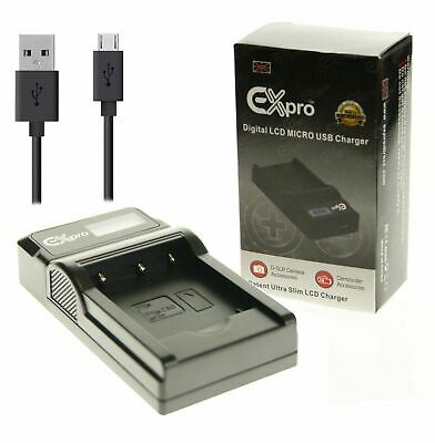 Ex-Pro Nikon MH-24 LCD USB Charger for Battery EN-EL14 D5100, D5200, D5300