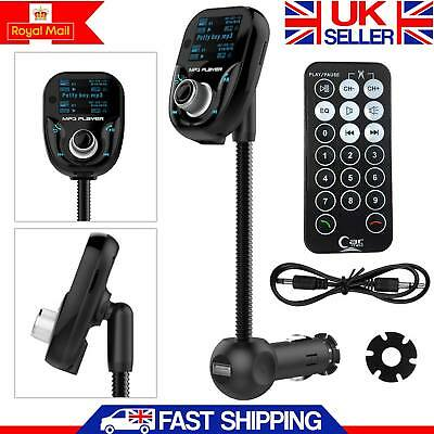 Bluetooth Car Kit FM Transmitter Radio MP3 Player USB Charger Handsfree Wireless