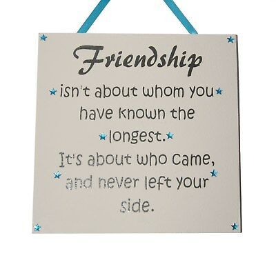 Friendship Isnt About Who Youve Known The Longest Hanging Sign
