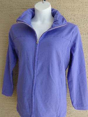 4e15e7c5160 New Just My Size Cotton Blend French Terry Zip Front Mock Neck Jacket 4X  Iris