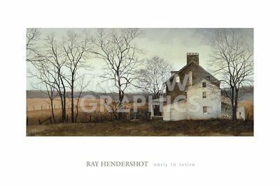 Early to Retire by Ray Hendershot Art Print Country Farm Landscape Poster 24x36