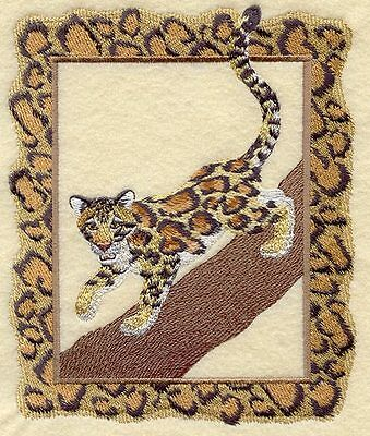 Embroidered Short-Sleeved T-Shirt - Clouded Leopard A4502 Sizes S - XXL