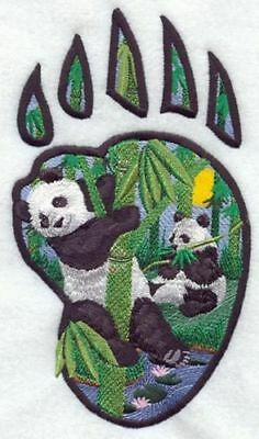 Embroidered Short-Sleeved T-Shirt - Panda Track M1653 Sizes S - XXL