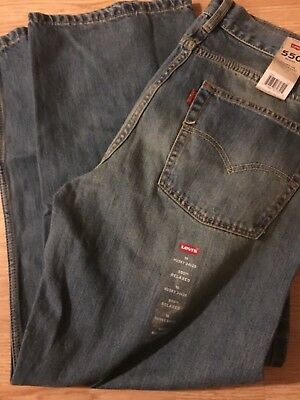 Levis 550 Relaxed Fit Tapered Boys Size 16 Husky lightBlue Denim Jeans 34x28-NWT