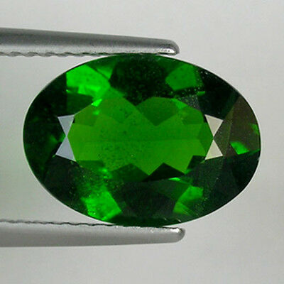 3.34 ct  EXCELLENT RARE RUSSIAN GREEN NATURAL CHROME DIOPSIDE OVAL _ 673