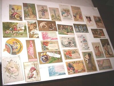 30- Estate Find Victorian Advertising Trade Cards Great Graphics & Variety