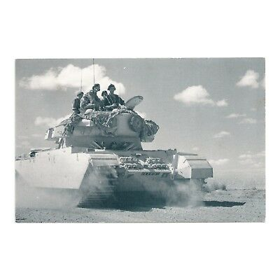 Suez Canal 1951 Tank Patrol Desert Inland From Canal Nostalgia Reproduction Card