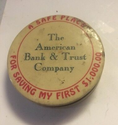 Vintage Celluloid American Bank And Trust Company Bank