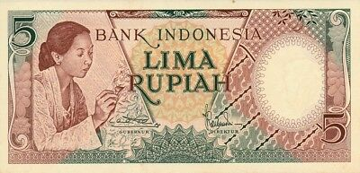 Bank Indonesia Indonesia  5 Rupiah ND   Choice UNC