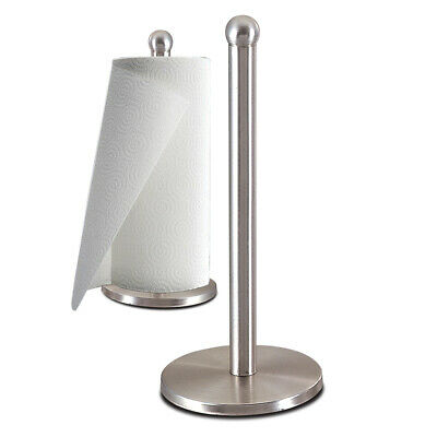 Zanzer Stainless Steel Kitchen Paper Towel Holder Dispenser - Silver