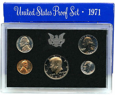 1971 S US Mint Proof Coin Set