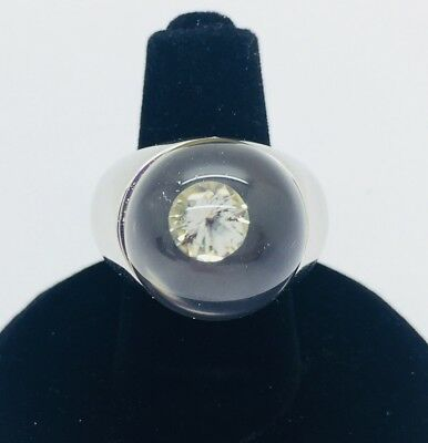 Mauboussin White Diamond and Rock Crystal in 18K White Gold Ring