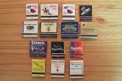 Lot of 14 Vintage Matchbooks Hotels Casinos Clubs