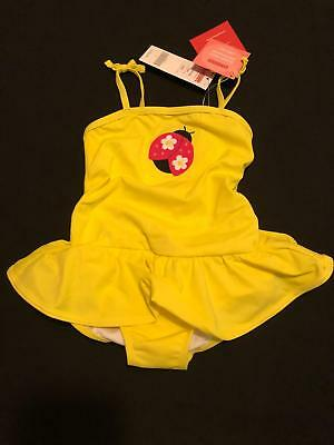 NWT Gymboree Girls Swim Shop Ladybug One Piece Swimsuit Size 18-24 & 3T