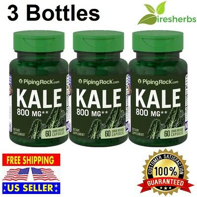 KALE EXTRACT 800 mg Help Lower Cholesterol PILLS DIETARY SUPPLEMENT 180 CAPSULES