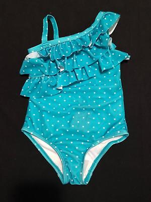 NWT Gymboree Girls Swim Shop Teal Polka Dot One Piece Swimsuit Size 18-24 2T 3T